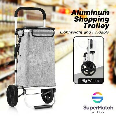 Shopping Cart Trolley Foldable Insulated Carry Bag Basket Market Stoage Carts