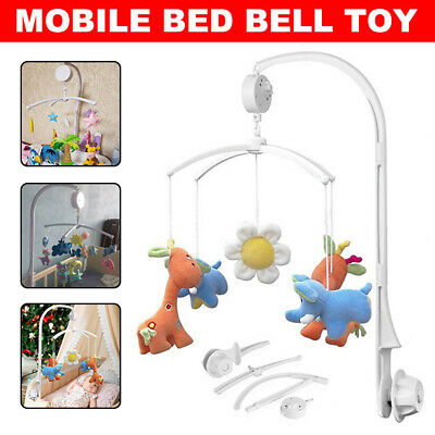 Baby Mobile Crib Bed Bell Toy Holder Arm Bracket + Wind-up Music Box DIY Gift