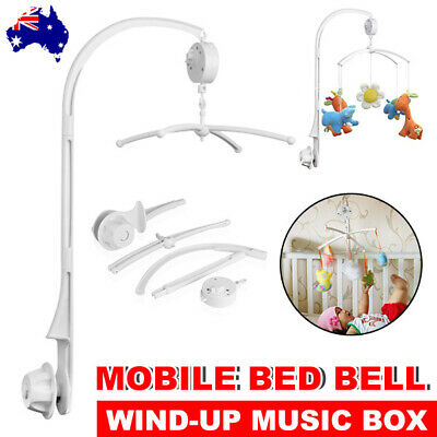 Baby Mobile Crib Cot Musical Bed Bell DIY Toy Holder Arm Wind up Music Box