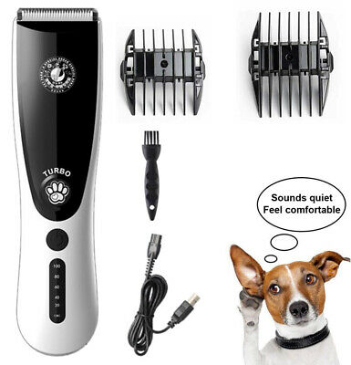Electric Pet Dog Cat Clipper Grooming Trimmer Animal Hair Shaver Scissors Set UK