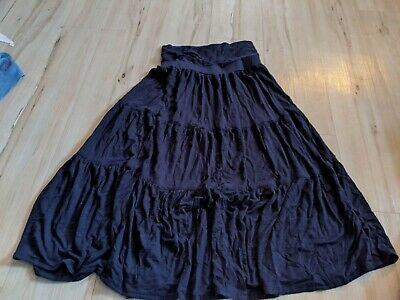 Kidpik Girl Youth Soft Comfy Skirt Size Small 7-8 Stretchable Waist Navy Blue