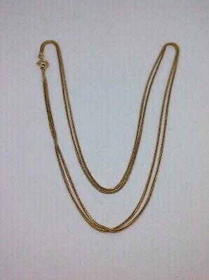 Chaine Double Collier Or 18ct