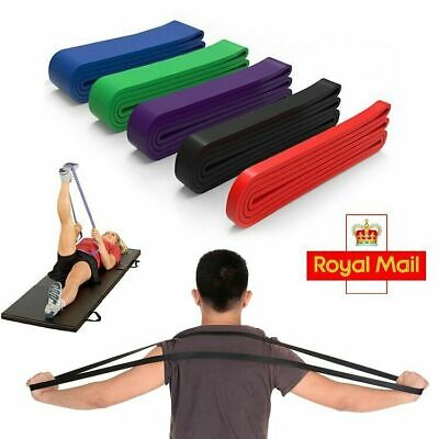 Resistance Exercise Heavy Duty Bands Natural Latex Tube Home Gym Fitness 5 Power