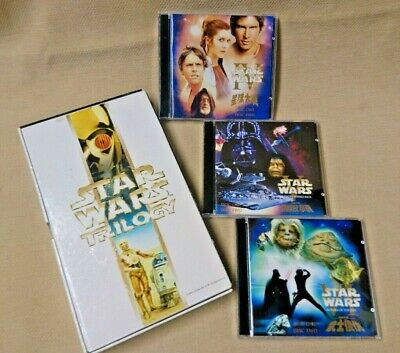 📶 Star Wars Trilogy 6 Disc VCD Video Cd Box Set Complete year 2000