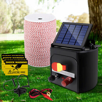 3KM Solar Electric Fence Energiser Energizer Charger Fencing Poly Wire Tape Farm