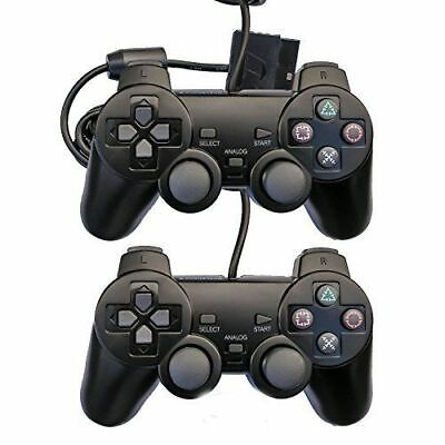 2 x PlayStation2 Dual-Shock Wired Controller Joypad Gamepad ps2 Joystick 2 pack