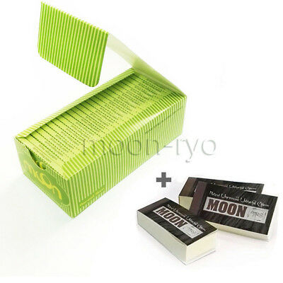 1 box 50 booklets Moon Hemp Rolling Papers 70*36mm 2500 leaves Tobacco with Tips