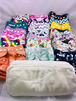 Cloth Diaper Covers Lot-21-Baby Goal-Haidue-Trend Lab-5 Microfiber Inserts