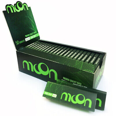 50 booklets NEW Moon Hemp Cigarette Rolling Papers 70*36mm 2500 leaves Tobacco