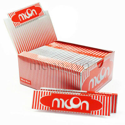 1 box 50 booklets Moon Red Cigarette Rolling Papers 108*45mm 1600 leaves