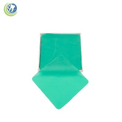 "Dental Endodontic Rubber Dam Natural Latex Medium Gauge 6"" x 6"" Green - 36/box"