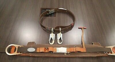 Klein Tools Deluxe Full-Floating Lineman's Body Belt & Positioning Lanyard Strap
