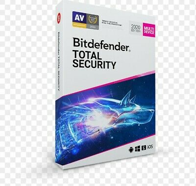 Bitdefender Total Security 2020- 5 PC/3 Months(Activation code) Instant Delivery