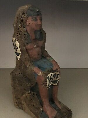 Rare Ancient Egyptian  Seated Ramses II (1336 Bc-1324)