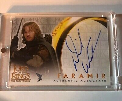 The Lord Of The Rings Two Towers David Wenham  Faramir Authentic Autograph