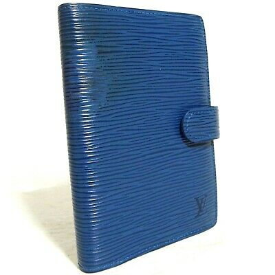 Vintage Auth Louis Vuitton Blue EPI Leather Agenda PM Cover R20055 CA1909 Spain