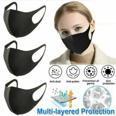 Reusable Breathable Face Covers Anti Dust Protection Mouth Nose Face Soft Cotton