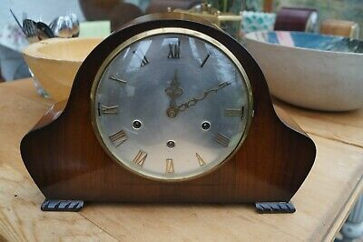 Smiths dual chime mantel clock.Westminster/Whittington.SEE VIDEO.