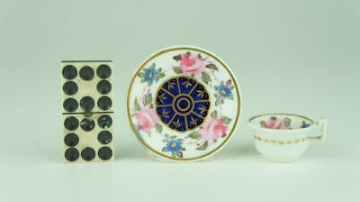 Good early 19thC Miniature Spode Etruscan Cup & Saucer, Pattern 3146