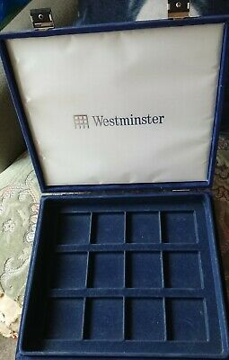 Blue Suede Westminster Coin Storage Case, Dusty From Storage