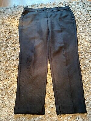 Dorothy Perkins Size 14 Black 3/4 Length Trousers VGC Summer/occasion Wear