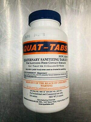 Quaternary Sanitizing Tablets