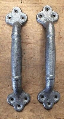 """Pair of 9"""" Large Rustic Handles for Barn Door or Gate Pull from Antique Design"""