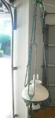 A Beautiful Kerosene Hanging Lamp Part Of A Historic Home Sell Up