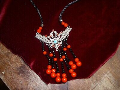 Large stone bead necklace very cool L@@K!