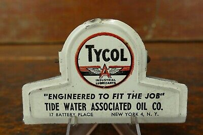 Vintage 1950s Tide Water Associated Oil Co Tydol Flying A Metal Clip New York NY