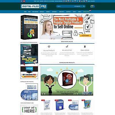 Established Online Business Web For Sale Fully Automated: Digital-Files-Pro.com