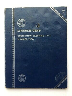 U.S. LINCOLN CENT Whitman 1941 Number 2 Book Complete Set 1941-1975