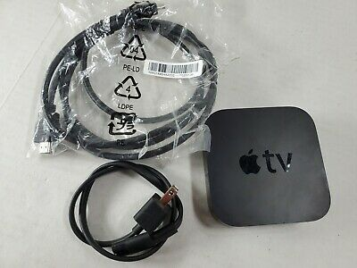 Apple TV 3rd Generation 8GB HD A1427 with USB Cable - NO Remote Tested