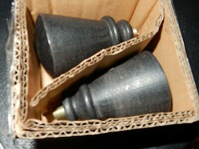 Pottery Barn Cast Iron Tapered Finials NIB Set of Two