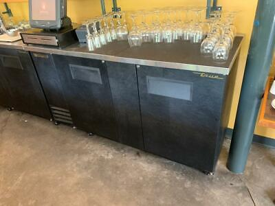 True TBB-3 Two Door Black Back Bar Cooler