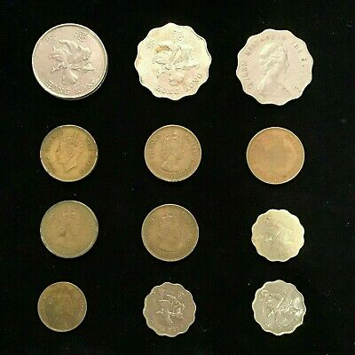 Hong Kong 12 different coins Cents &  Dollars