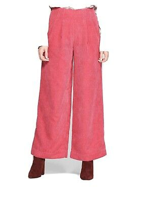 Prologue Trouser Pants Wide Leg Mid Rise Pink Corduroy Size 8 952