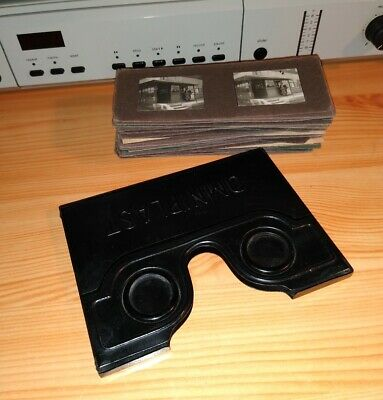 Rare Omniplast 53X Homemade Slides Stereo Viewer 3D Stereoscope Antique Vintage