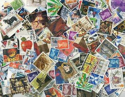 400 GB only stamps off paper - no world - from charity kiloware & old collection