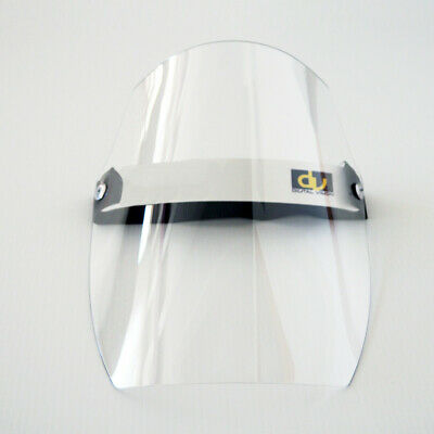 antivirus safety full face shield - clear - flip up - one size