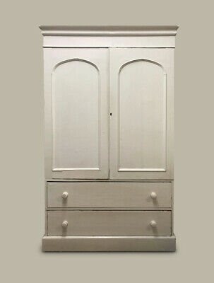 Armoire antique pine cupboard kitchen larder linen press wardrobe