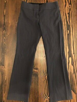 Ann Taylor LOFT Julie Pants Trouser Slacks Charcoal Gray Size 4