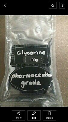 IN STOCK Pure Glycerine 100g Pharmaceutical Grade crystal clear Glycerol QLD AU