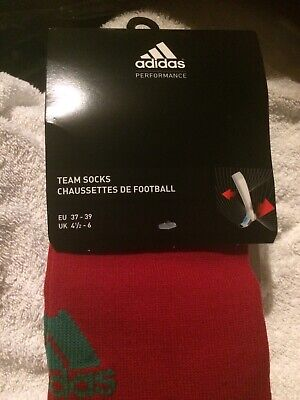 ADIDAS socks 1 pair Adisock 12 Football Sock (Green Red) 4.5 - 6 NEW. R.R.P 6.99