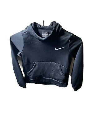 Girls Nike Hoody Age 10-12 Black Dri Fit Excellent Condition