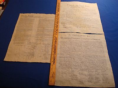 Declaration, Constitution, Bill Of Rights, Replicas,  Historical Documents
