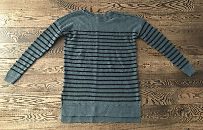 NWOT Old Navy Green With Black Striped Long Sweater Sz XS NEVER WORN NICE!!