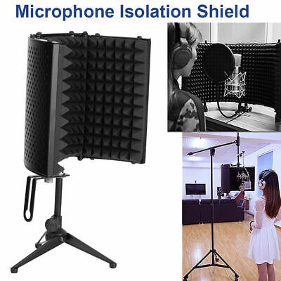Studio Microphone Mic Isolation Shield Sound Dampening Acoustic Screen Recording