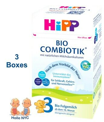 HiPP Stage 3 Bio Combiotic Infant Formula 3 Boxes 600g Free Shipping