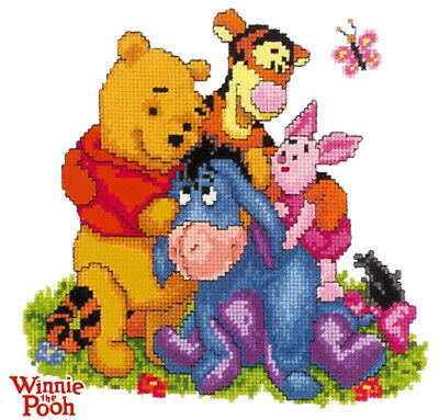 Disney's Cross Stitch Pattern__🎈_Winnie The Pooh Butterfly_Kids Room Decor DIY